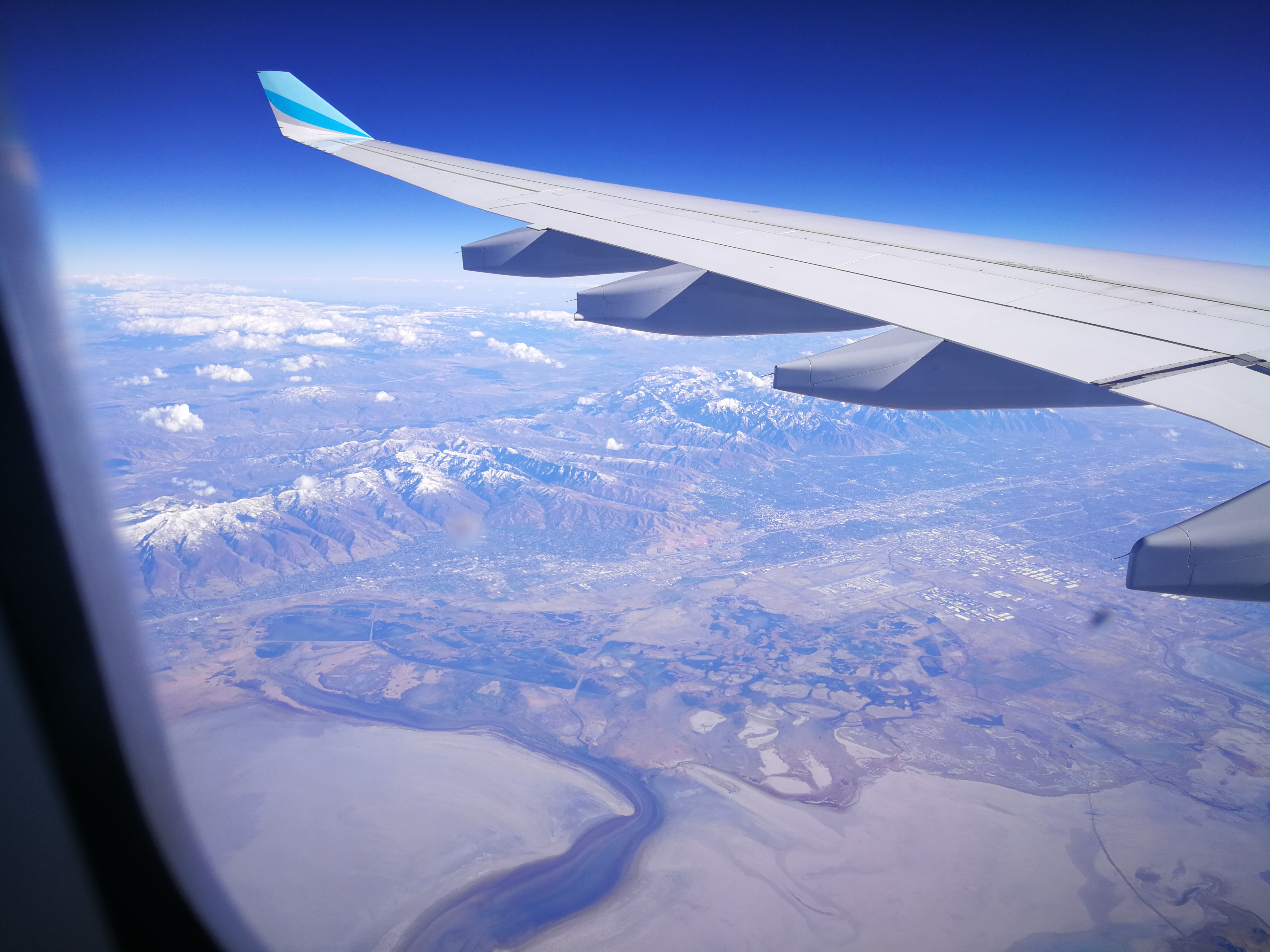 Blick aus dem Flugzeug ca. 30 Minuten vor Las Vegas